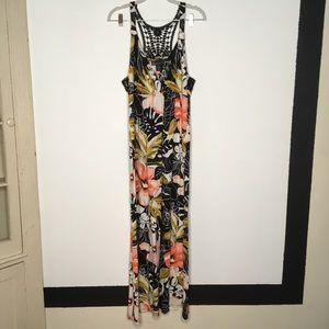 Lane Bryant Floral Crochet Racerback Dress 14/16